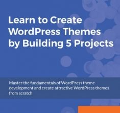 دانلود رایگان کتاب از آمازون-Learn-to-Create-WordPress-Themes-by-Building-5 Projects