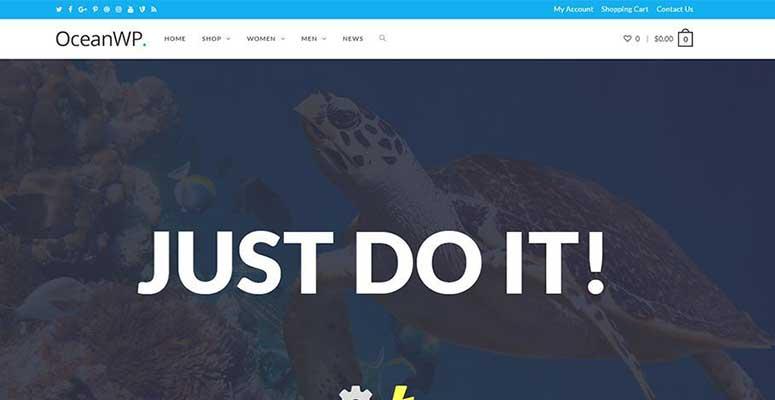 oceanwp بهترین و محبوب ترین قالب وردپرس سال 2019