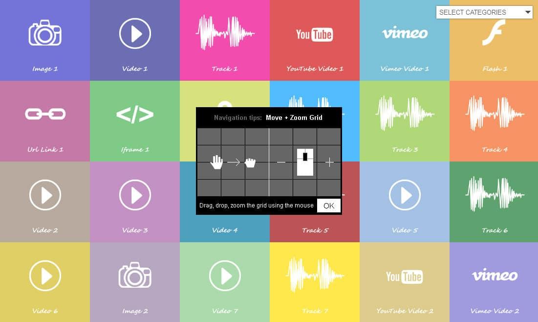 اسکریپت گالری تصاویر Infinite Grid Pro