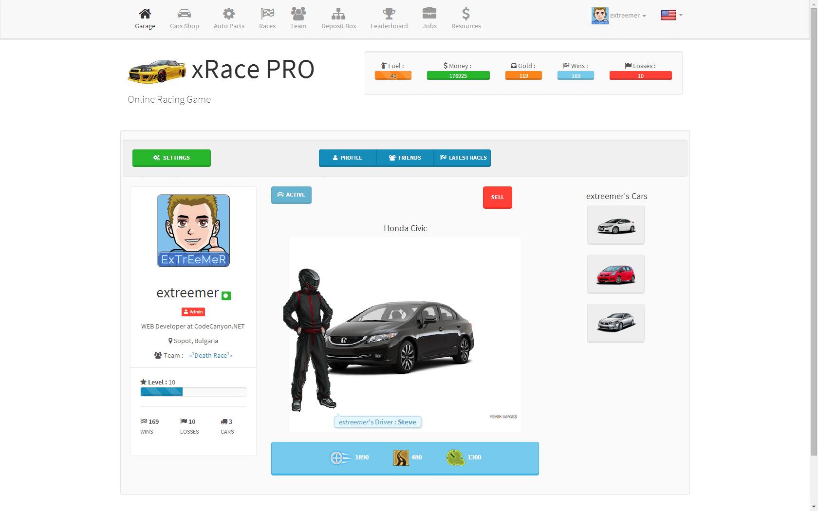 بازی اینترنتی ماشین XRace PRO