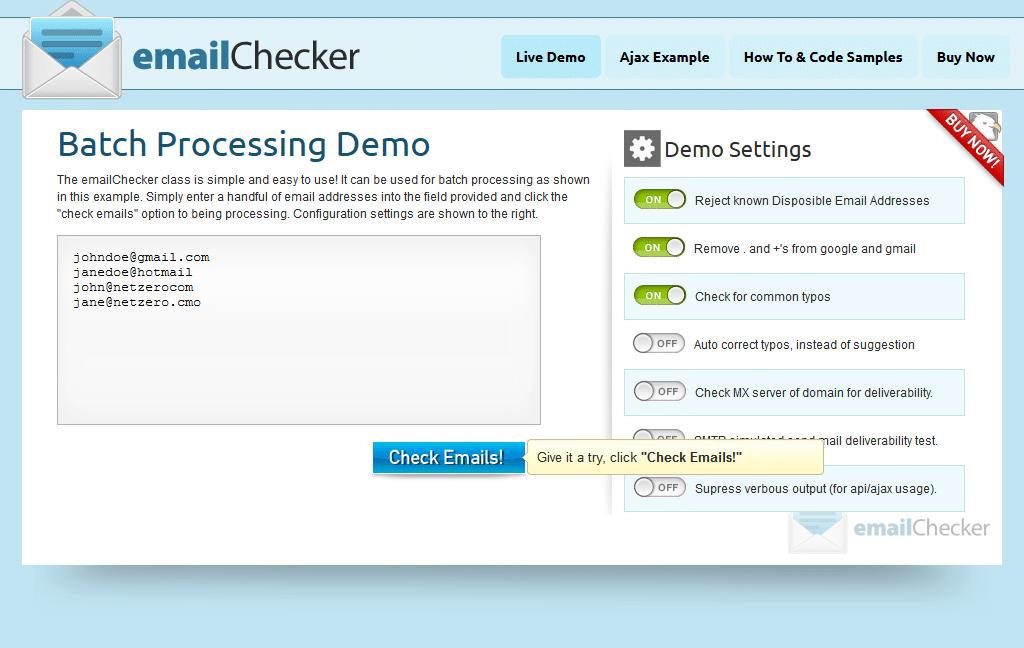 اسکریپت بررسی ایمیل EmailChecker