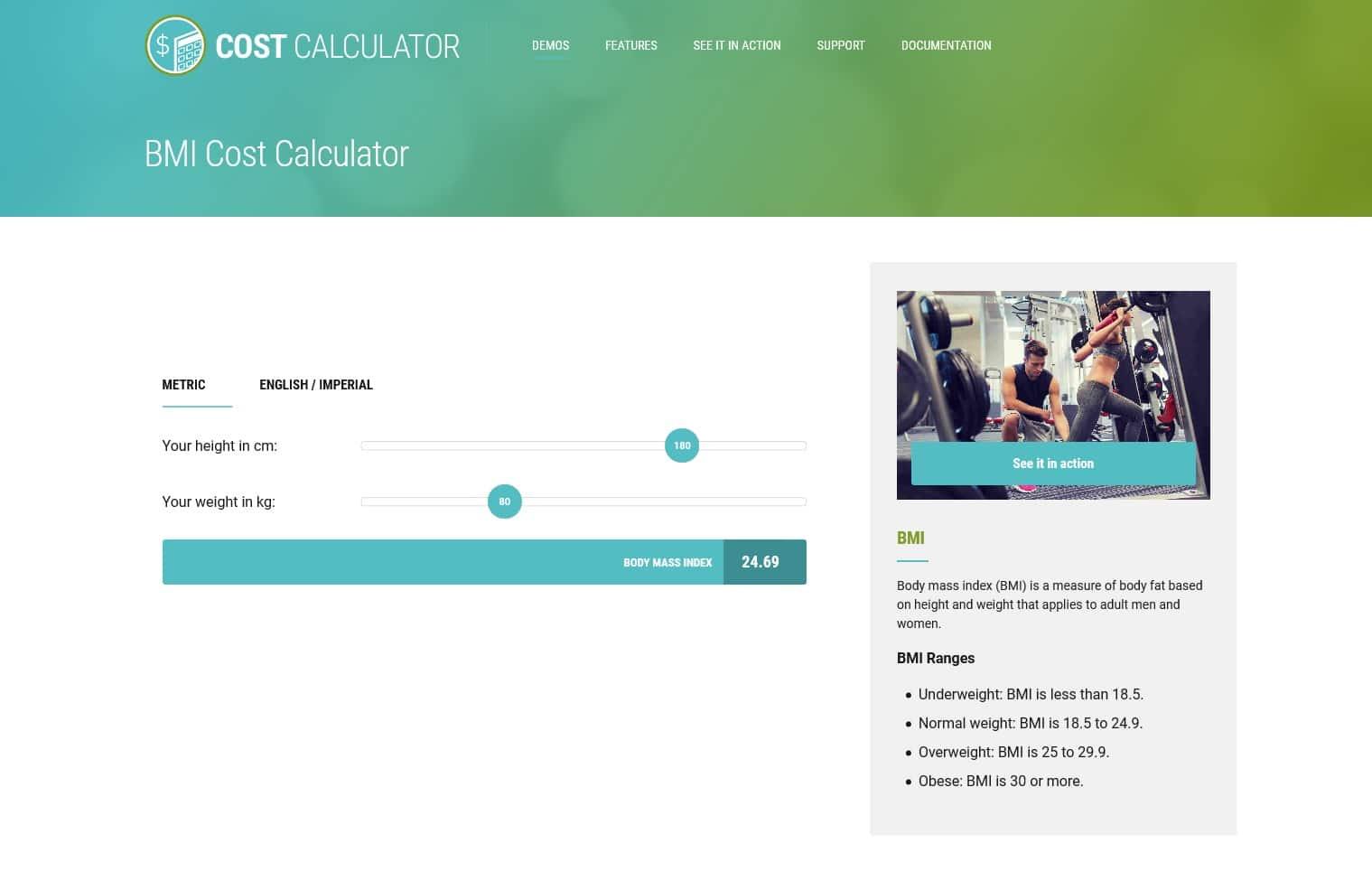 افزونه محاسبه قیمت Cost Calculator