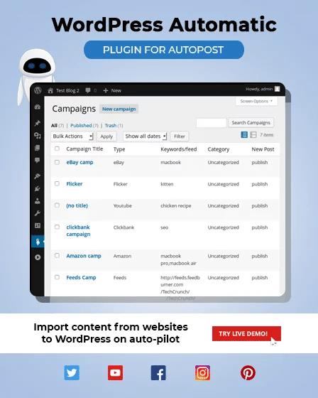 افزونه پست خودکار WordPress Automatic Plugin