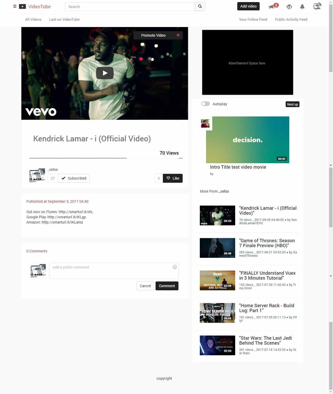 اسکریپت VideoTube