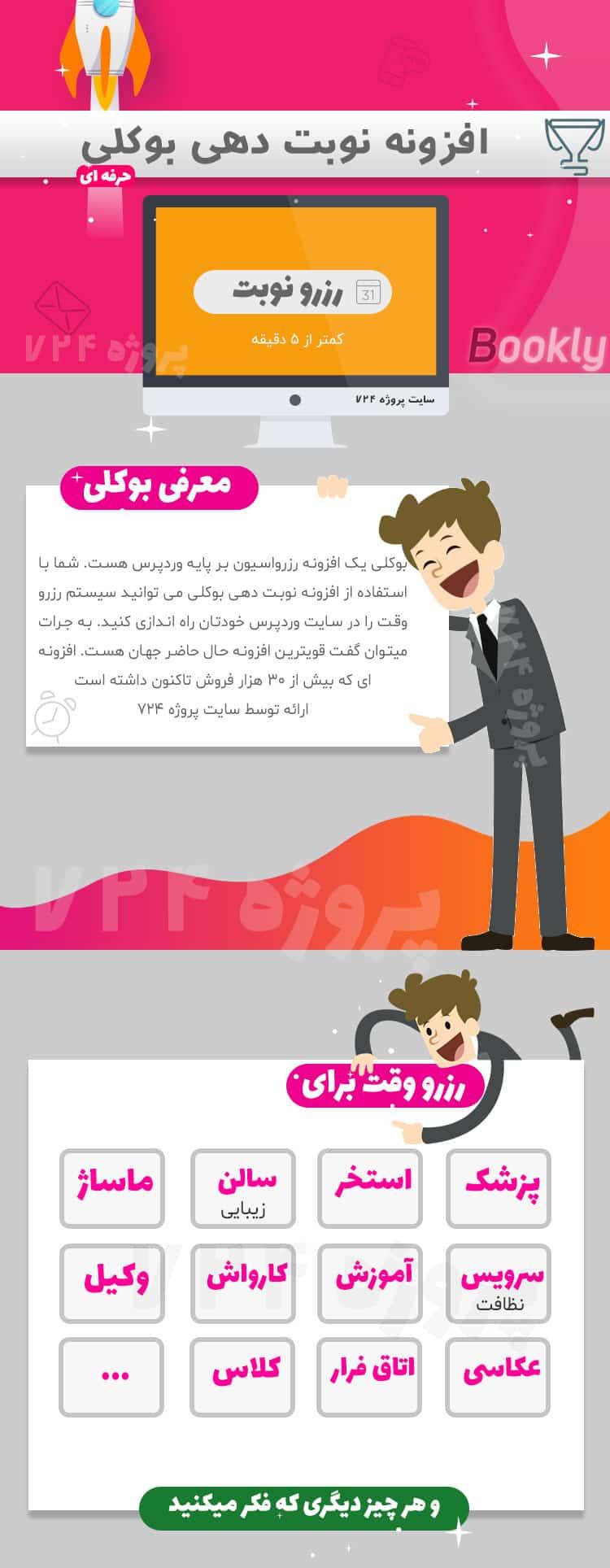 افزونه فارسی رزروارسیون Bookly