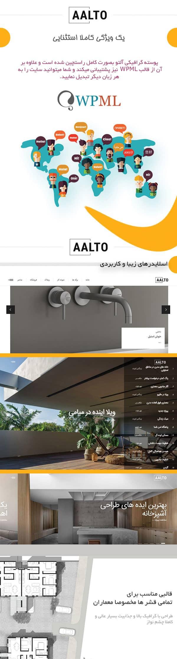 قالب ساخت و ساز وردپرس Aalto