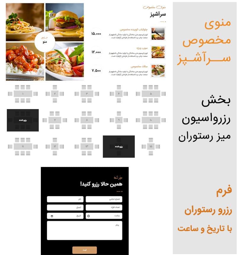 قالب رستوران وردپرس FoodLover