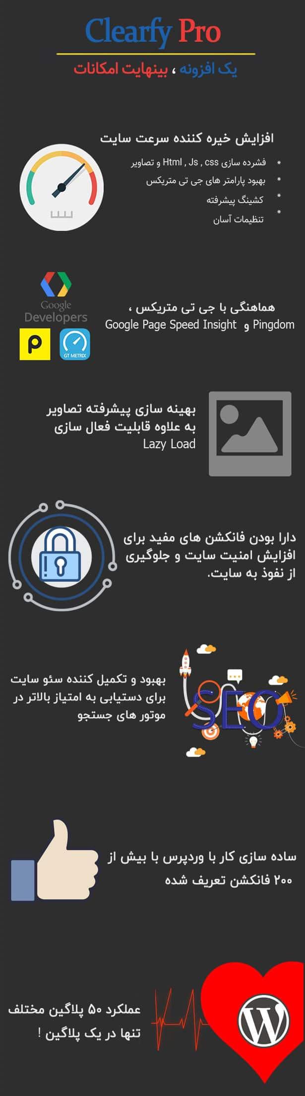 افزونه بهینه ساز وردپرس Clearfy pro