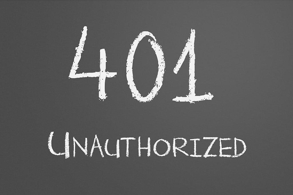نحوهی رفع خطای 401 unauthorized