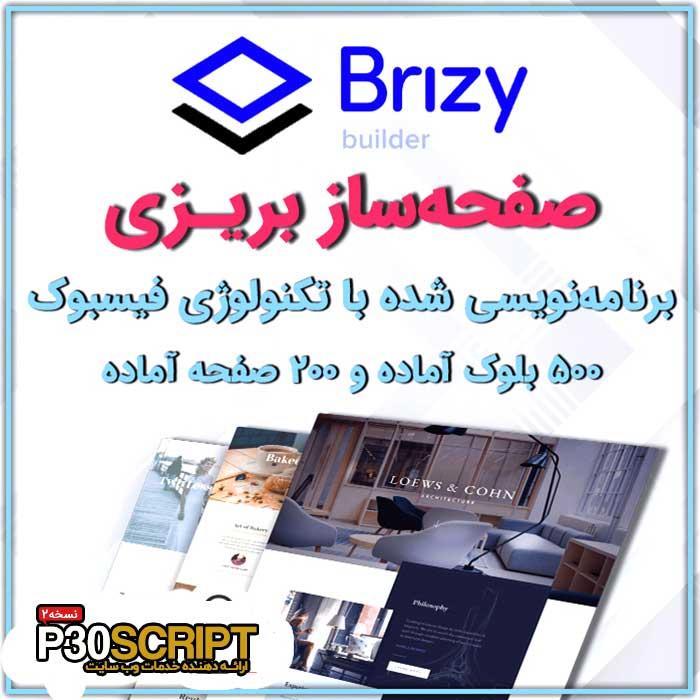 افزونه صفحه ساز بریزی پرو | Brizy Pro